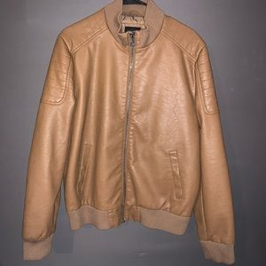 Forever 21 Men Caramel Leather Jacket